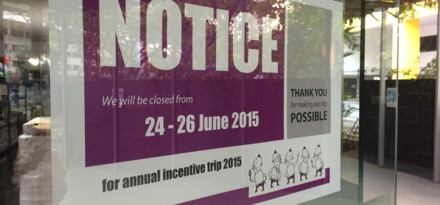 NOTICE: We will be closed 24th – 26th June