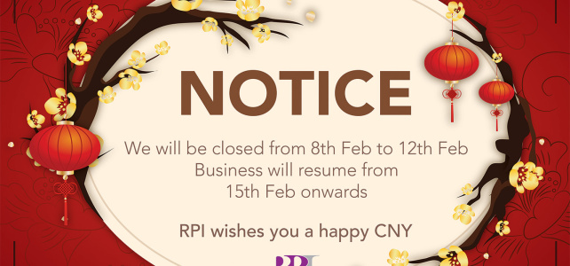 Closure for Lunar New Year!