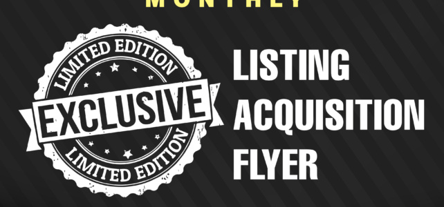Listing Acquisition Flyer (New Product)